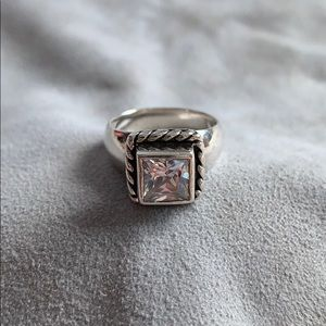 SILPADA Cubic Zirconia & Sterling Silver Ring